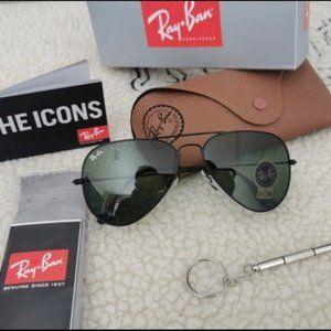 RayBan Classic Aviator Black Frame Lens Sunglasses